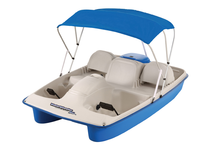 Water Wheeler Electric Pedal Boat w/Canopy
