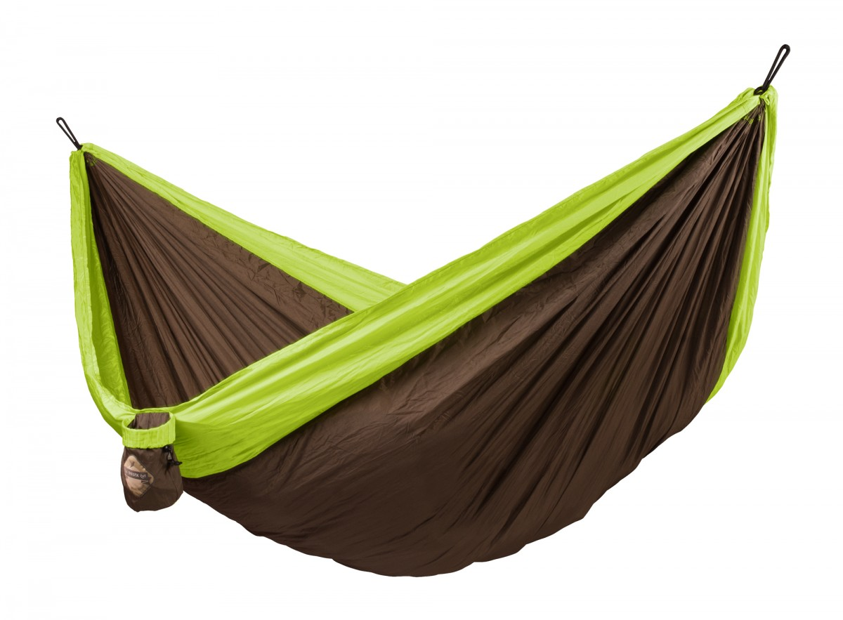 La Siesta Double Travel Hammock - Colibri Green