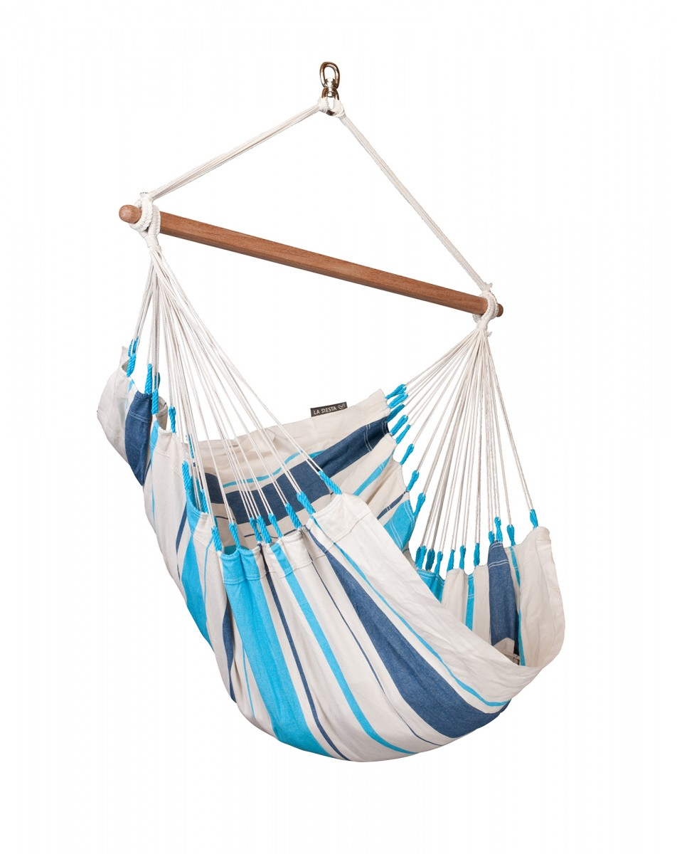 La Siesta Hammock Chair Basic - Caribena Aqua Blue