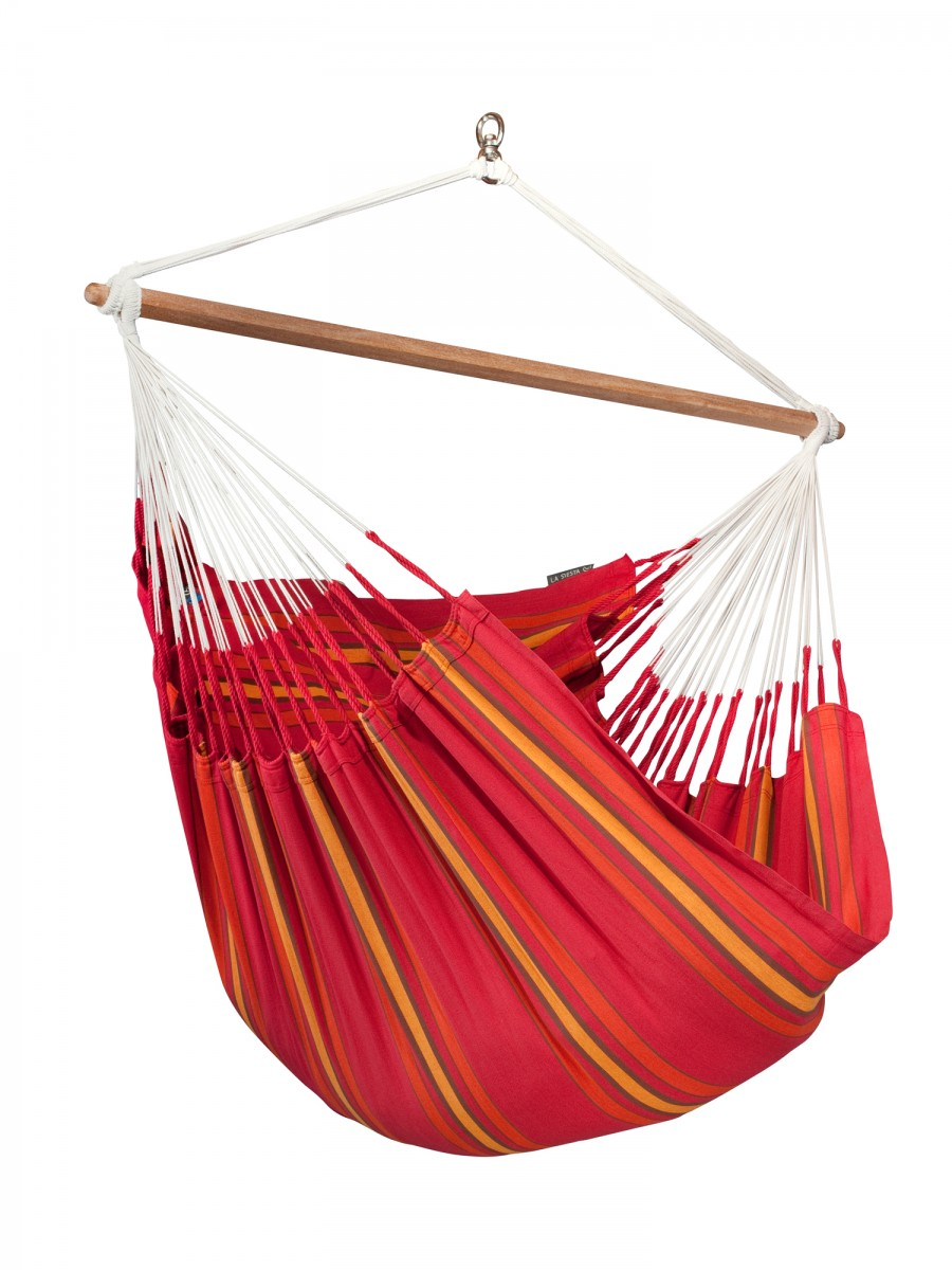 La Siesta Hammock Chair Lounger - Currambera Cherry