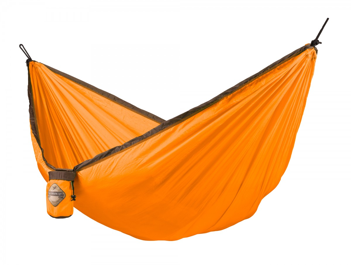 La Siesta Single Travel Hammock - Colibri Orange