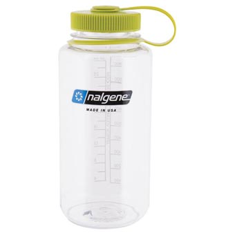 Nalgene Everyday Wide-Mouth 1L Bottle - Clear w/Green Lid