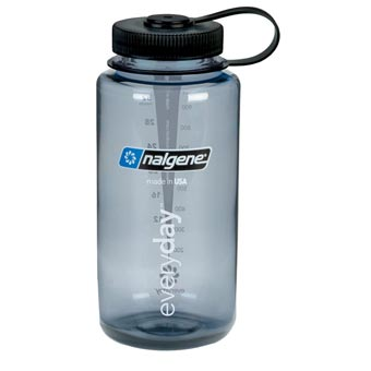 Nalgene Everyday Wide-Mouth 1L Bottle - Gray w/Black Lid