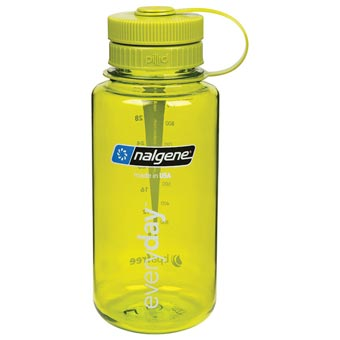 Nalgene 1L Wide-Mouth w Pillid Bottle - Green w/Green Pillid