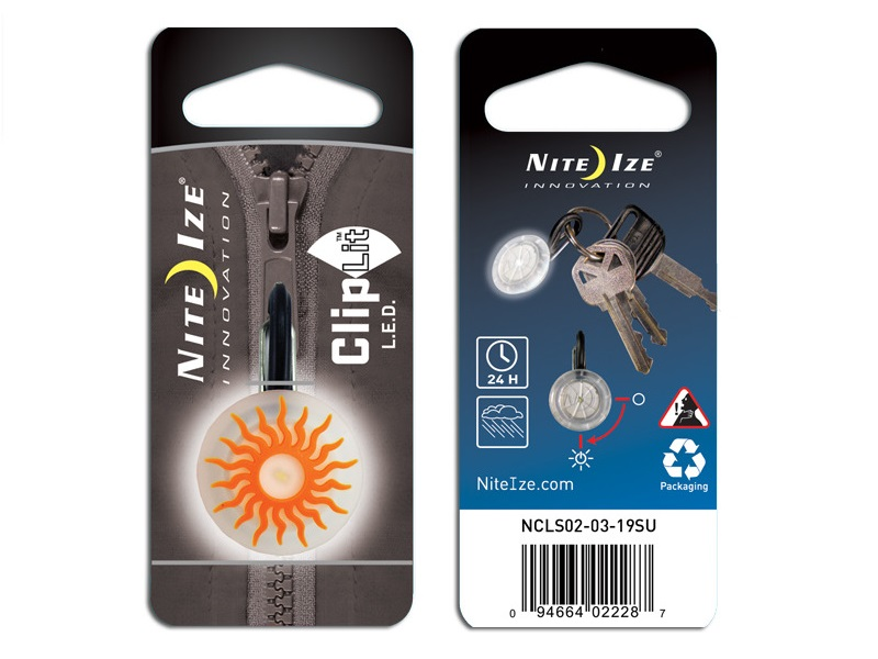 Nite Ize ClipLit LED - Orange Sun/White