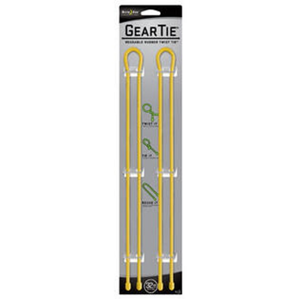 NITE IZE Gear Tie 32in Yellow 2-pk