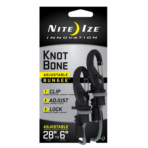 Nite Ize 5mm Cord KnotBone Adjustable Bungee - 28in
