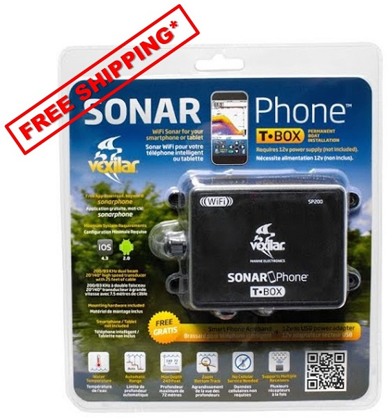 SonarPhone w/WIFI High Speed T-Box Transducer - Click Image to Close