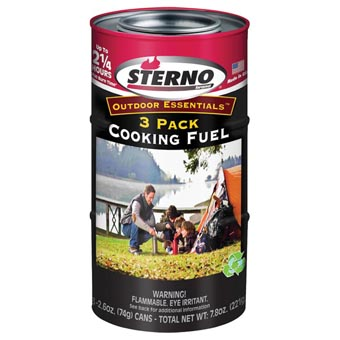 Sterno Gel Cooking Fuel 3x2.6oz Pack