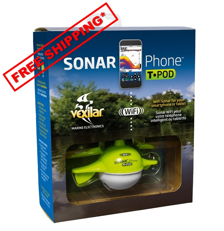 SonarPhone w/WIFI Transducer T-Pod